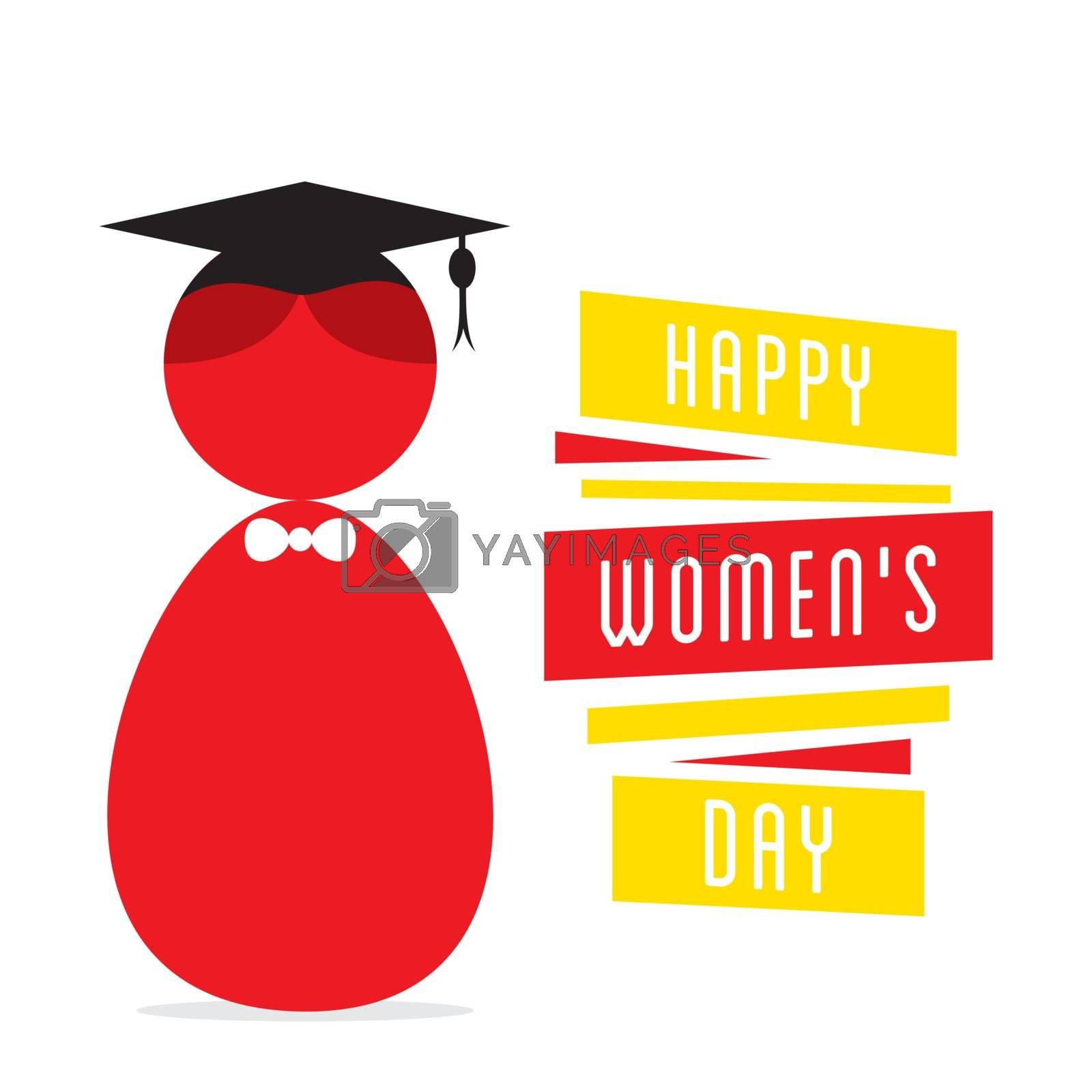 happy womens day, women graduate design