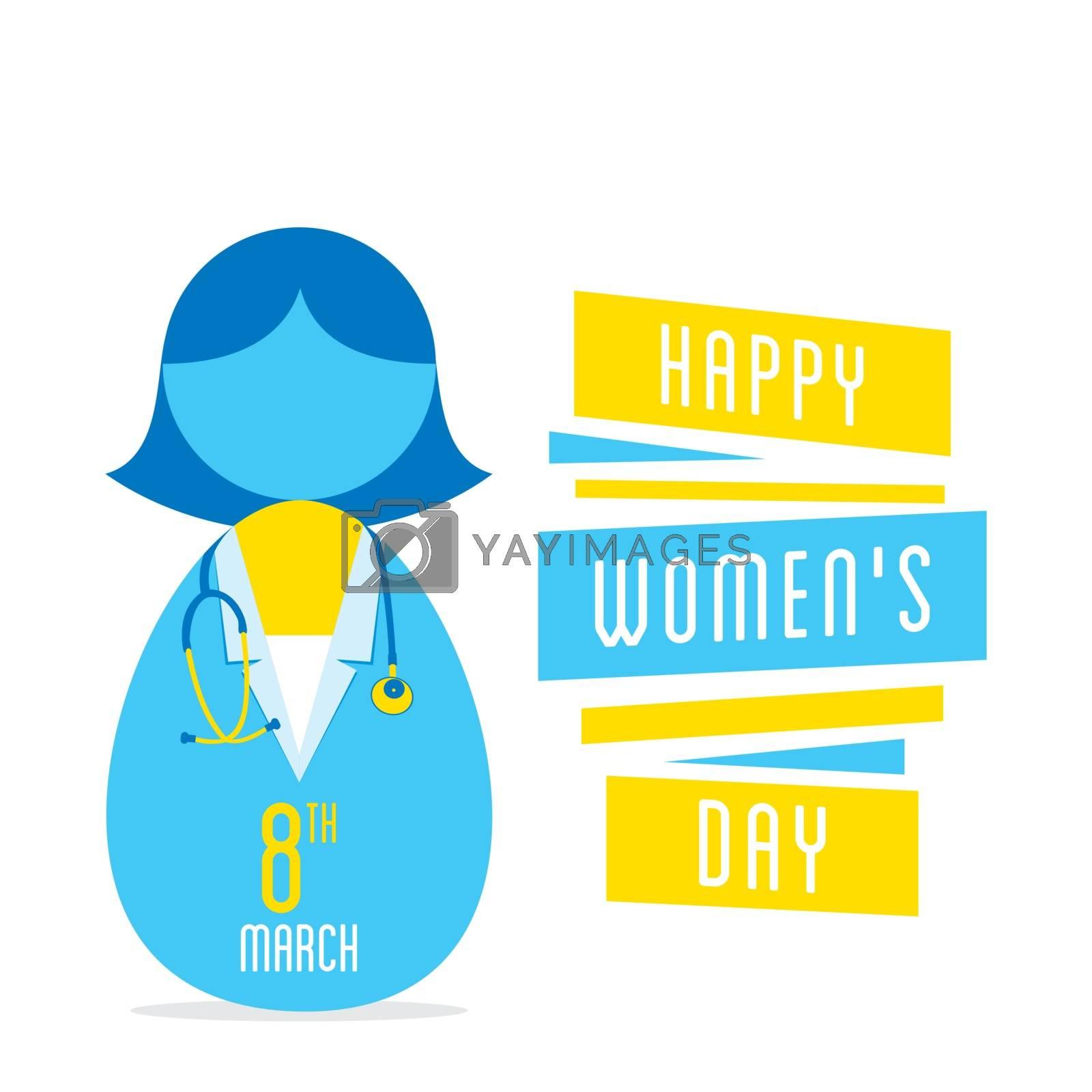 happy womens day, women doctor profession design