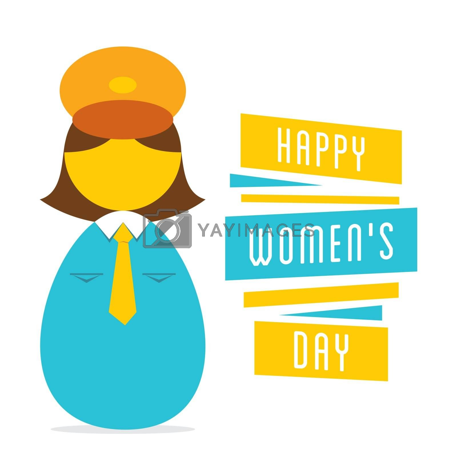 happy womens day, work in women police design