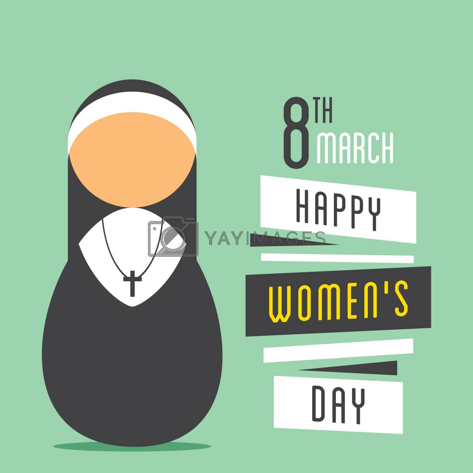 happy womens day, nun prayer design