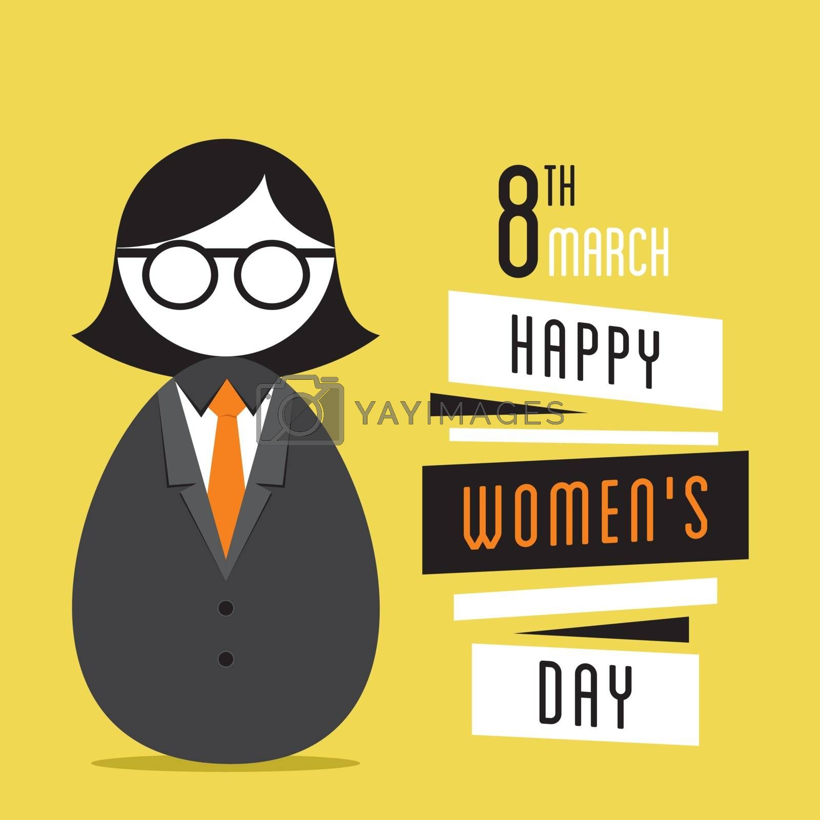 happy womens day design, business women design
