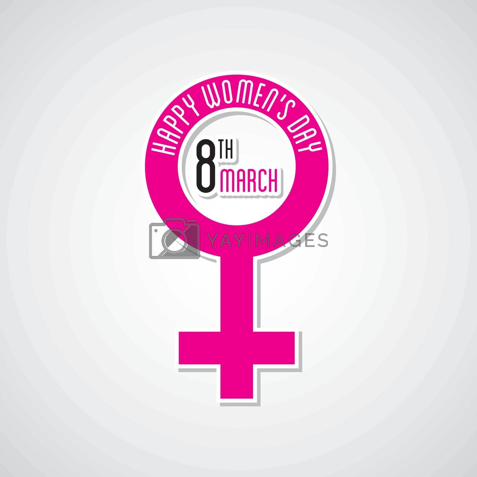 happy womens day greeting design using female symbol