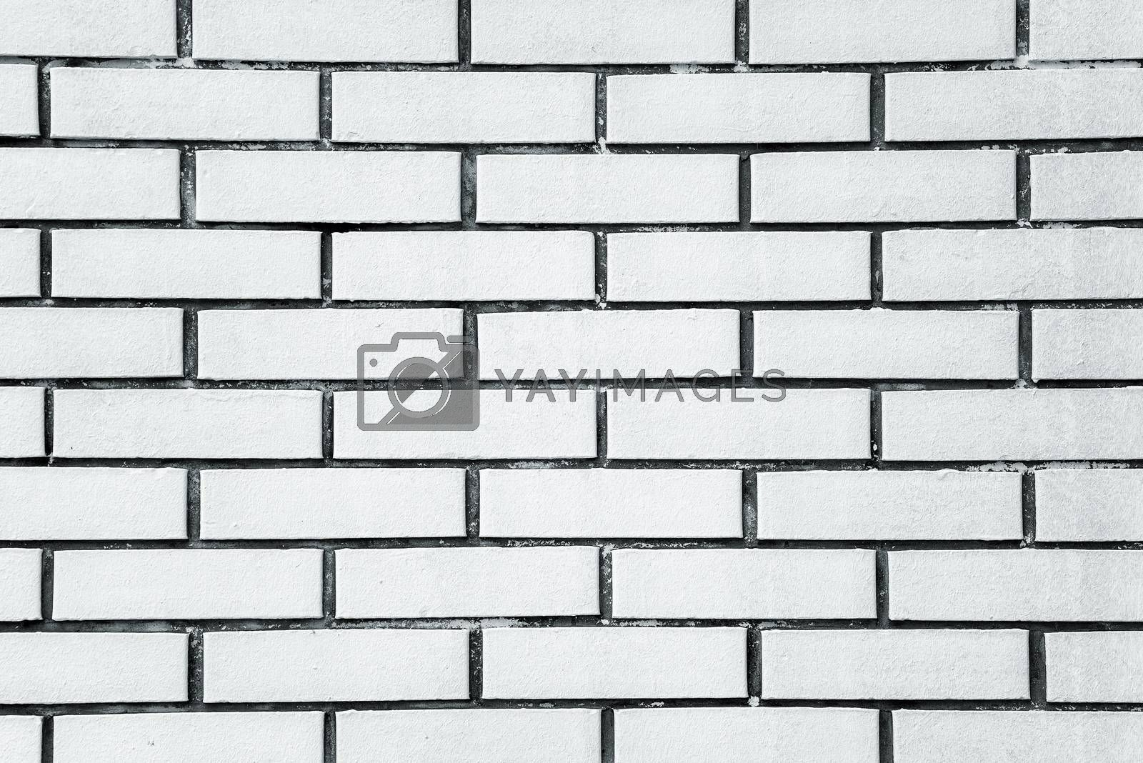 White brick wall texture, brickwork wall detail