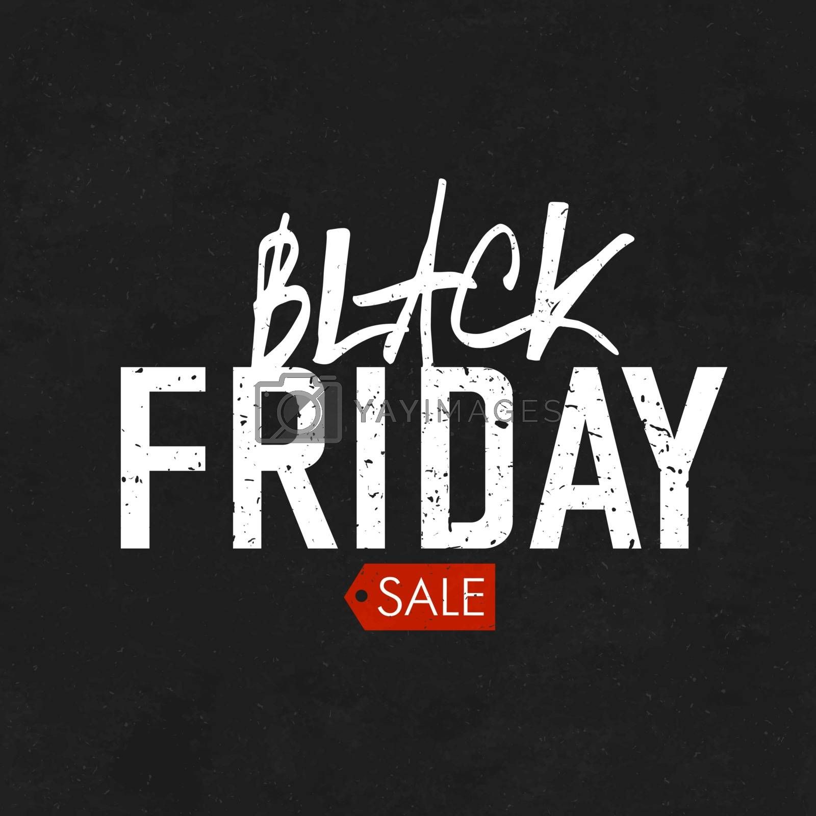 Black Friday sales Advertising Poster on Blackboard Texture