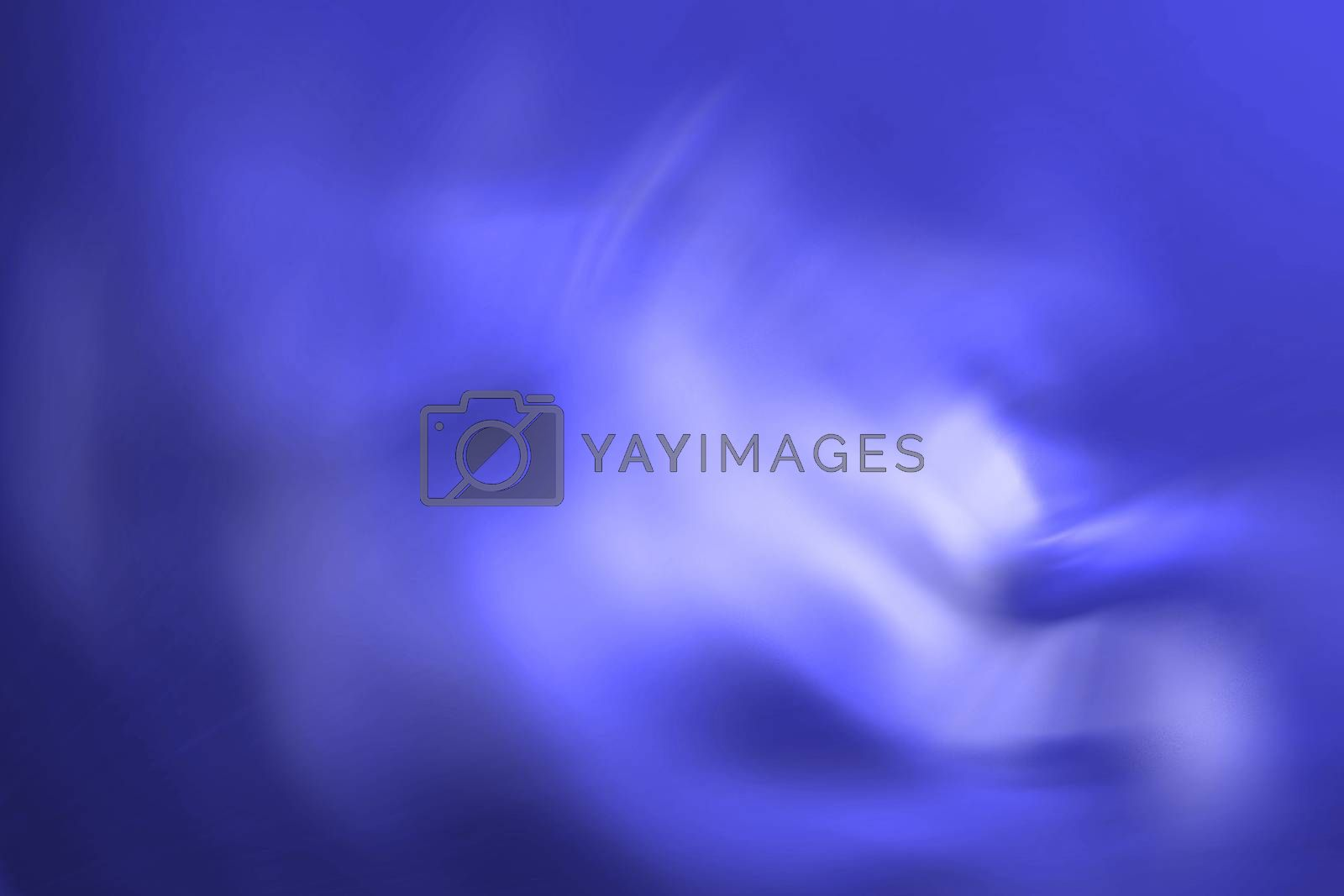 Graphic representation of abstraction of brightly blue colour