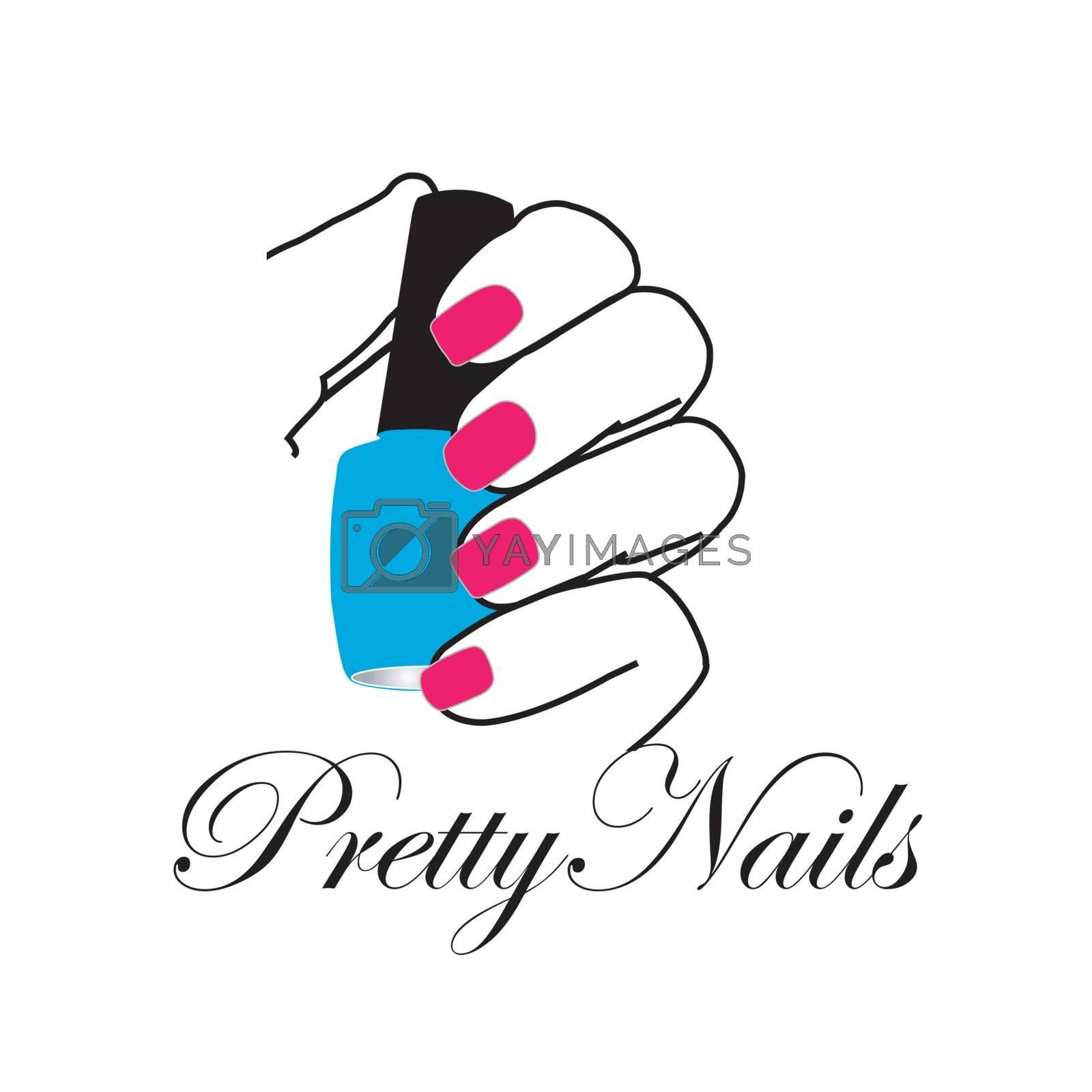 Pretty nails with a nail polish in hand by shawlinmohd