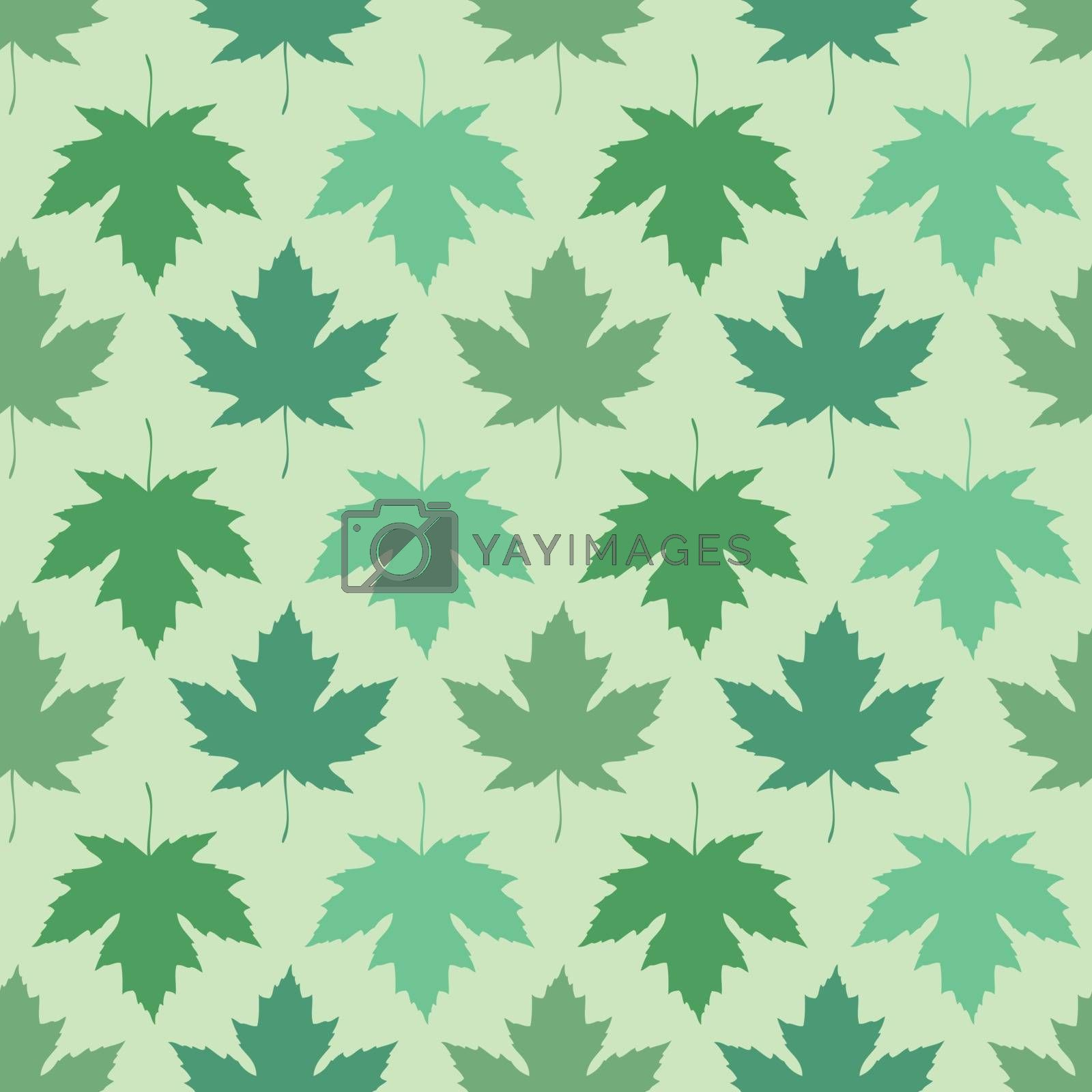 Vector seamless wallpaper. Maple leaves of different colors