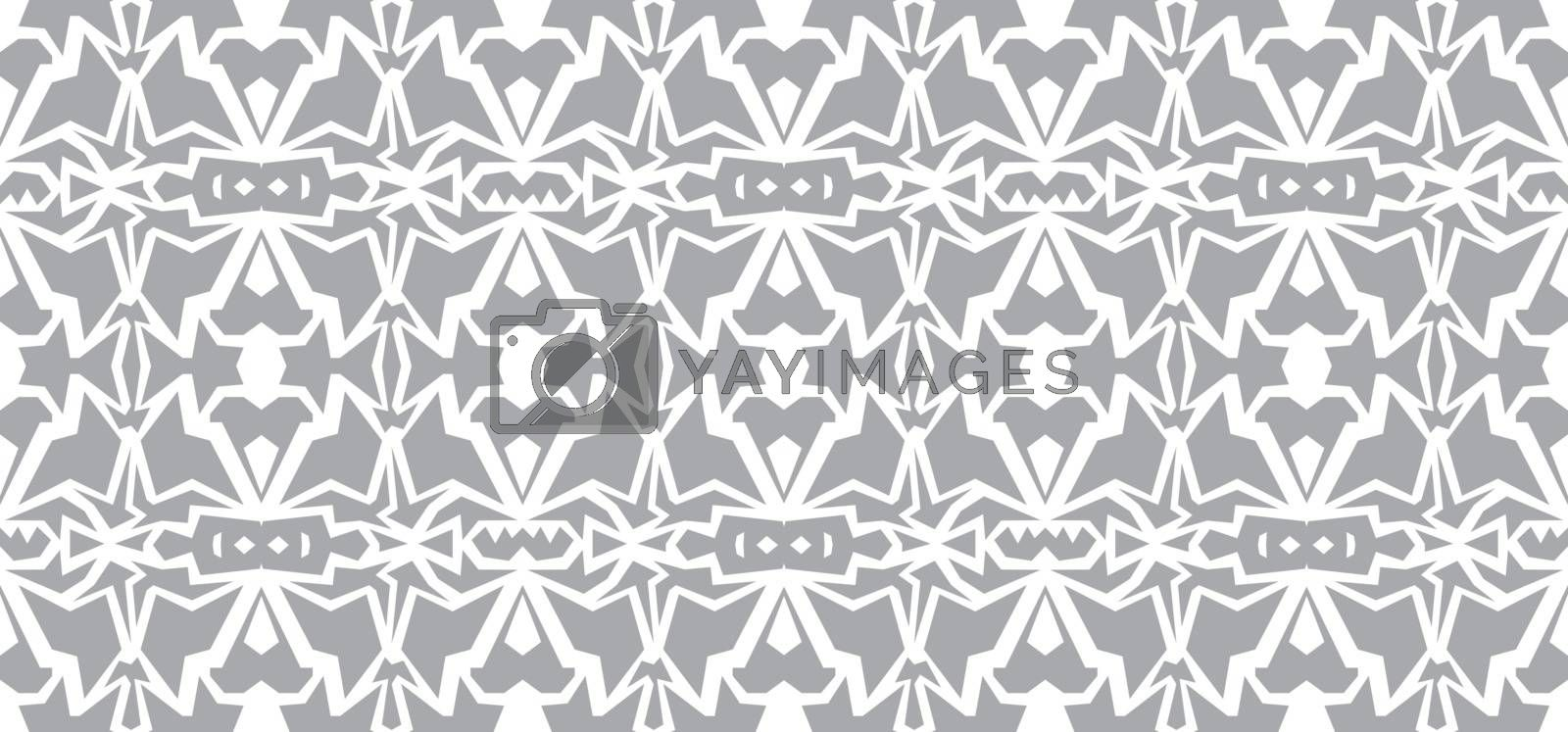 Vector seamless wallpaper. Monochrome gray white abstract pattern