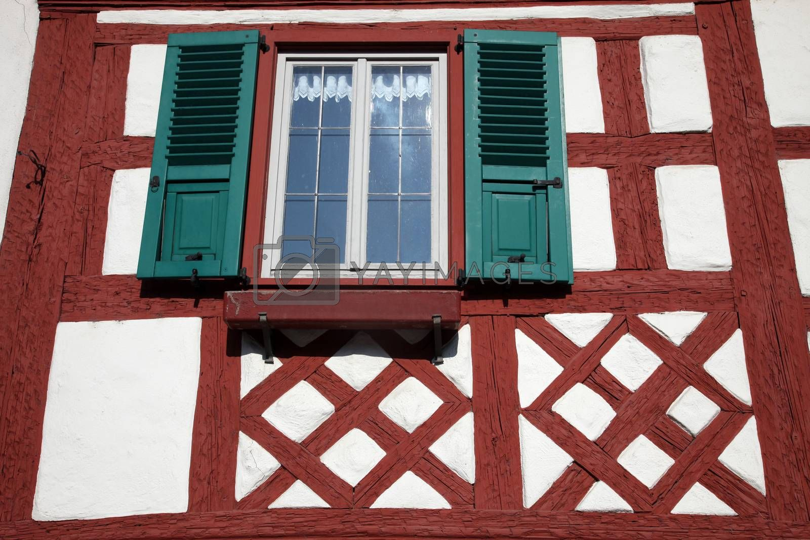 Traditional Half-Timbered Houses in Munsterschwarzach, Germany