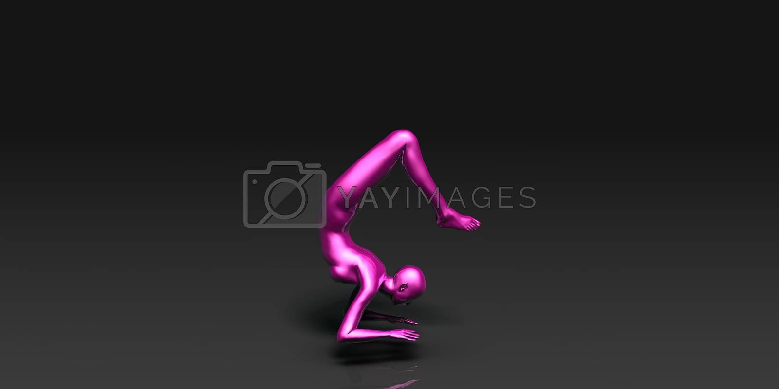 Yoga Class, the Scorpion Basic Pose Stance