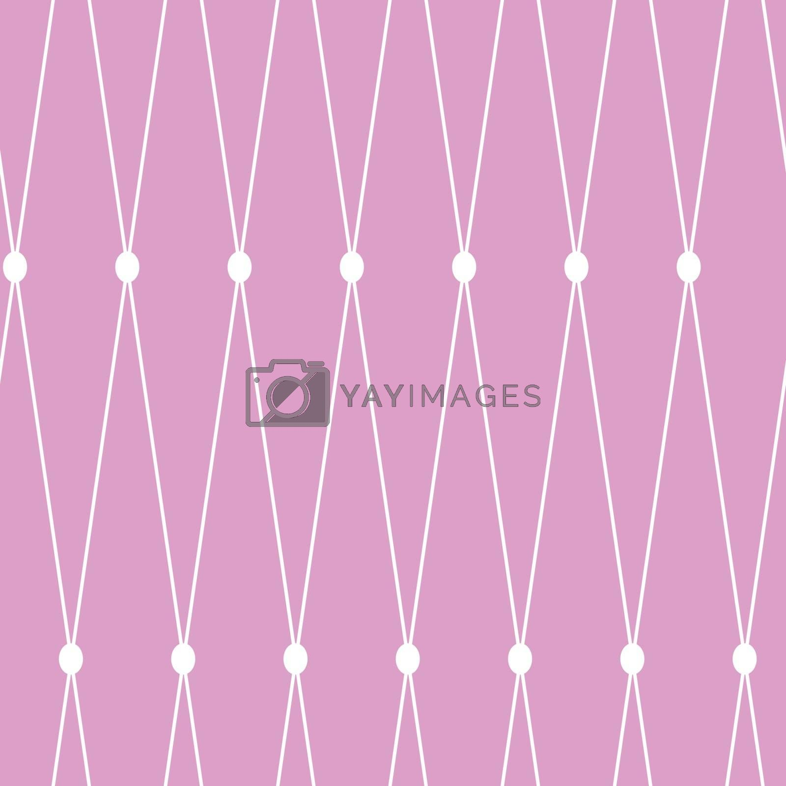 Vector seamless background. White grid on the pink background