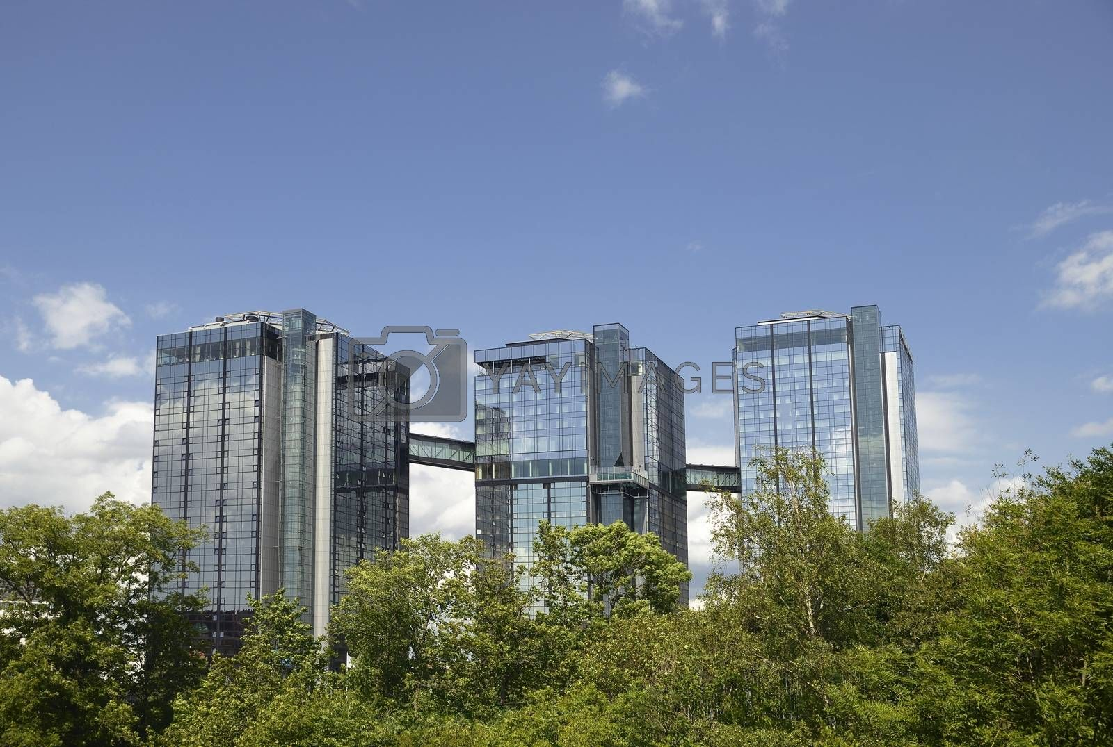Gothia Towers in Gothenburg (sweden) is a four star hotel and one of Europe's largest with 1,200 rooms housed in three towers between 77 and 100 meters high.