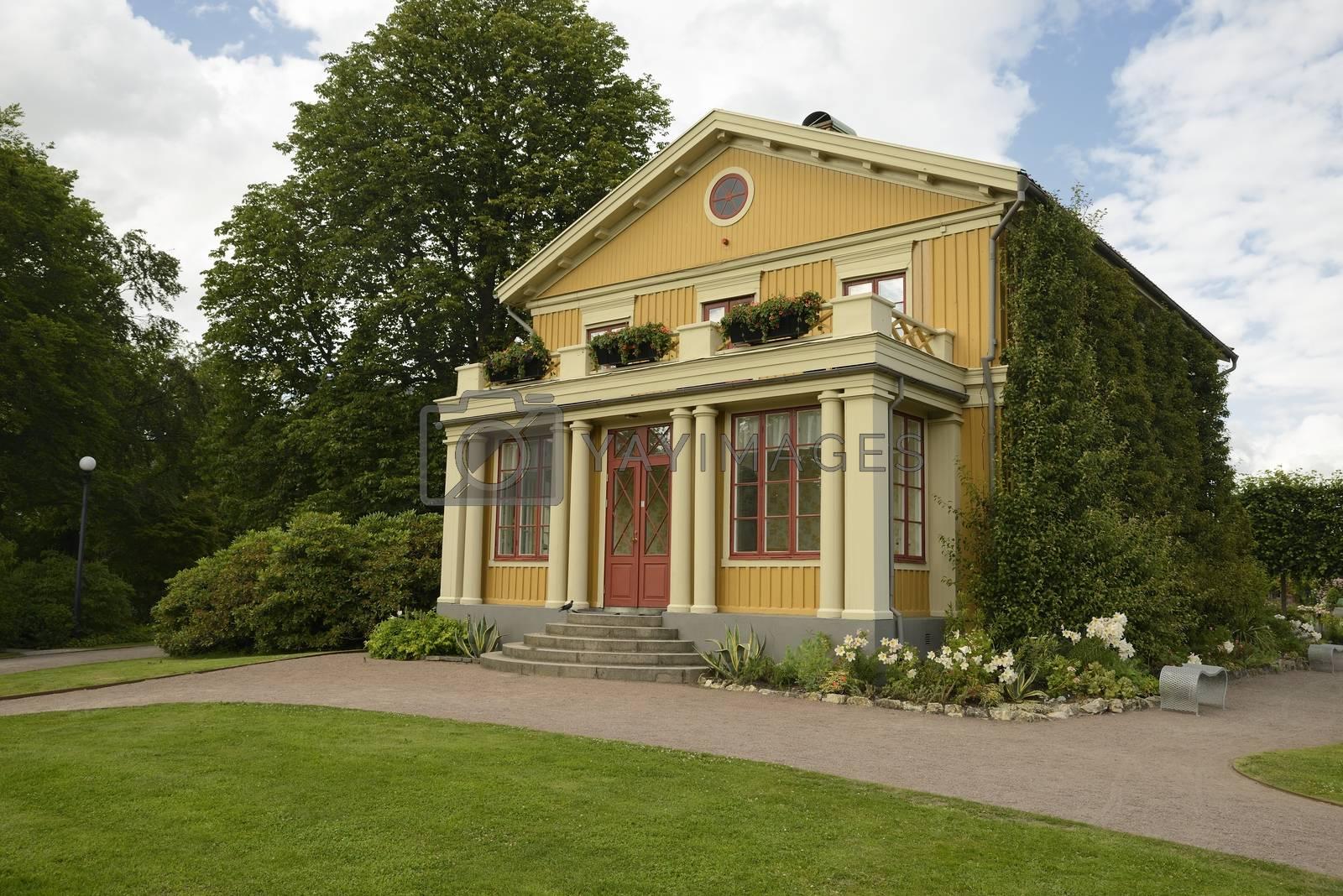 Old wooden house in garden of Tradgardsforeningen