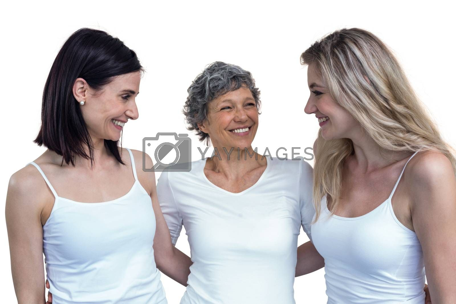 Royalty free image of Women standing together with arm around by Wavebreakmedia