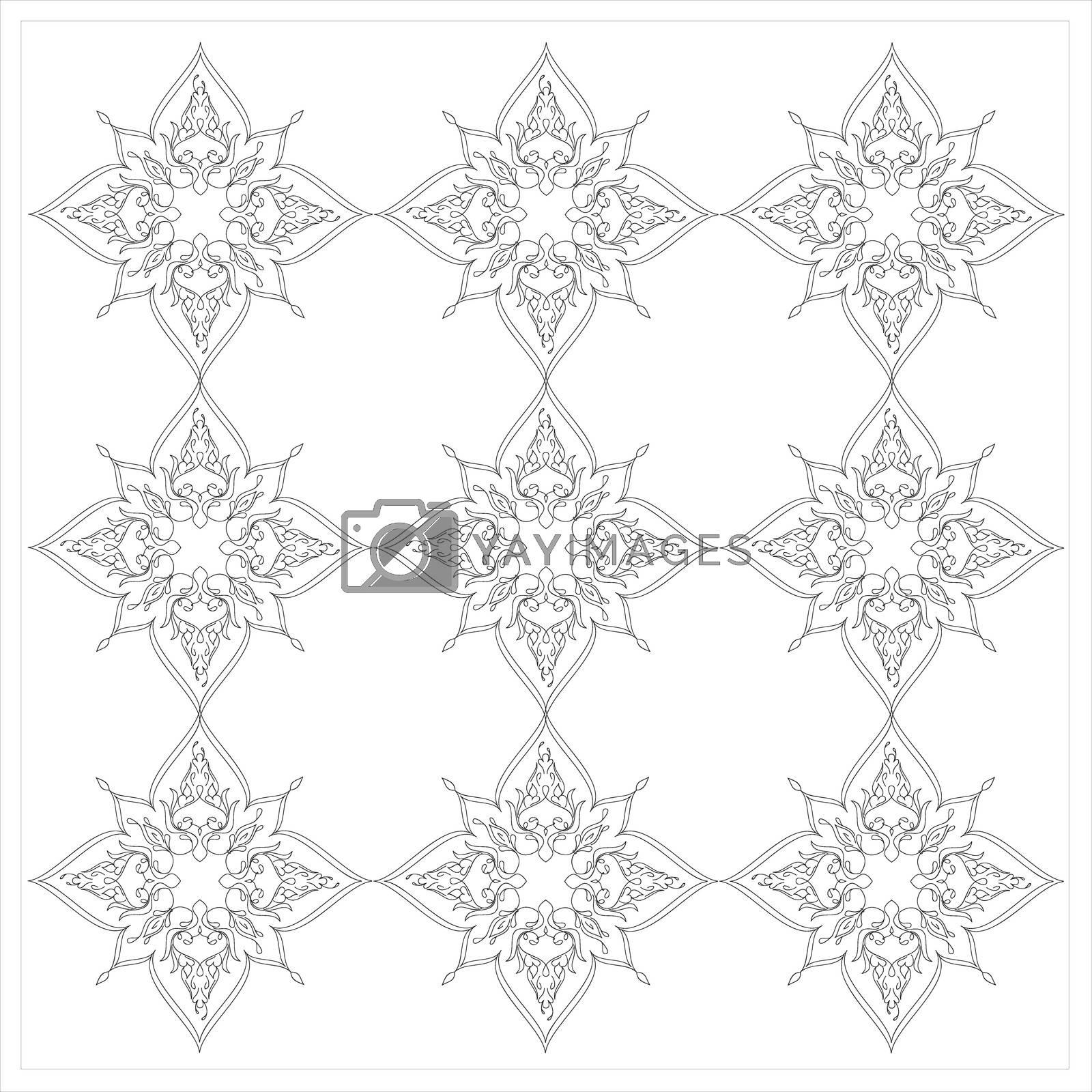 Royalty free image of Ottoman Tile Art With Nine Islamic Element by mturhanlar