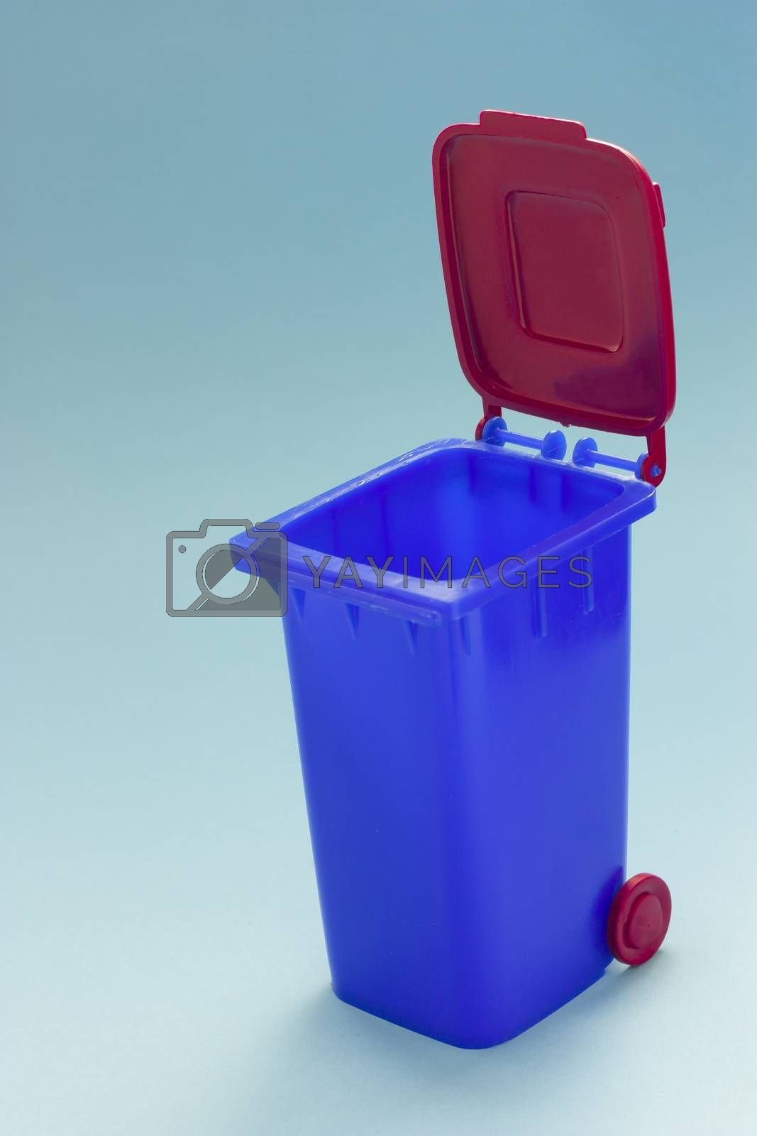 Miniature of a Dumpster combined container pen blue and red
