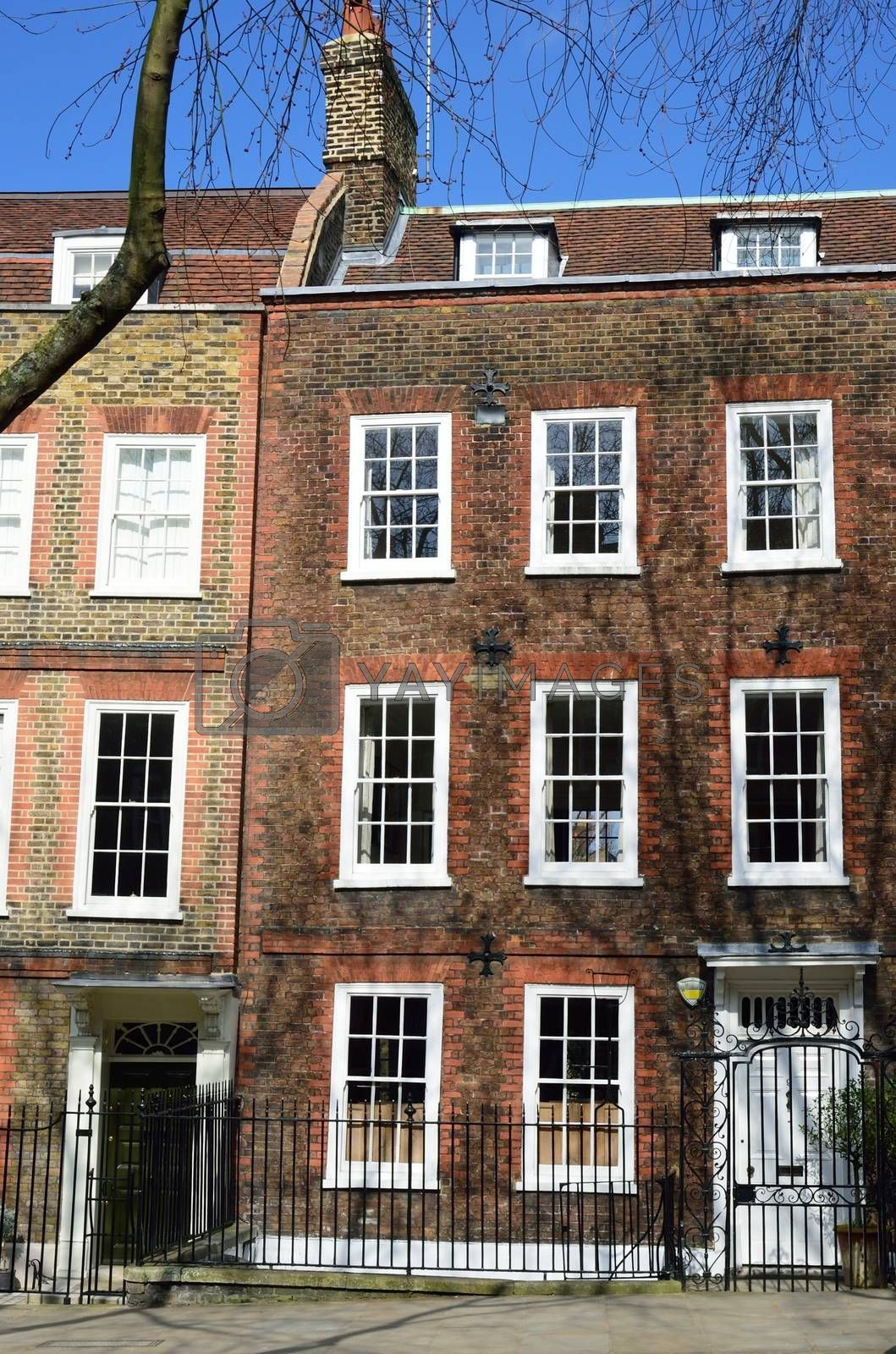 Red brick large london  townhouse