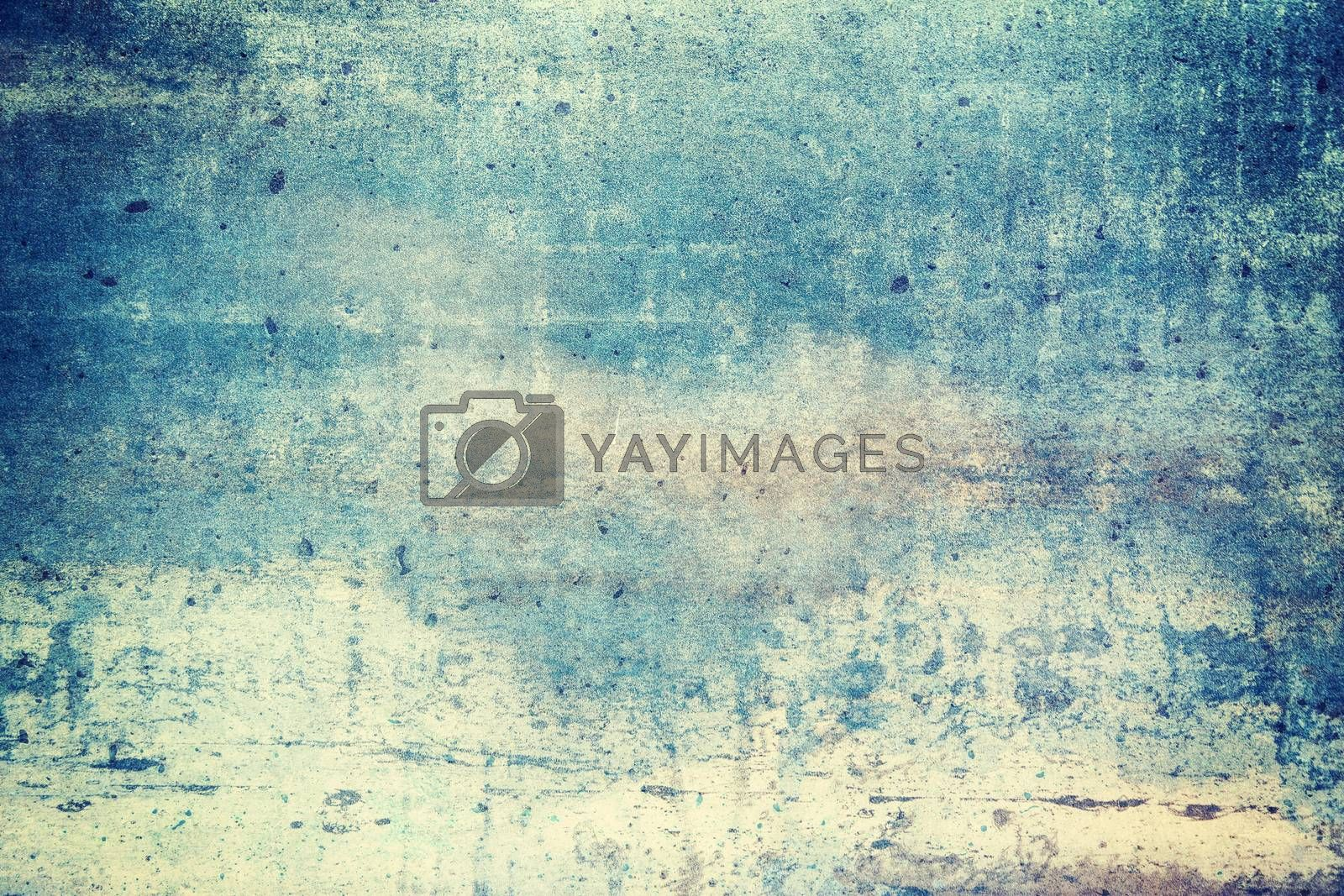 Blue colored grunge texture background