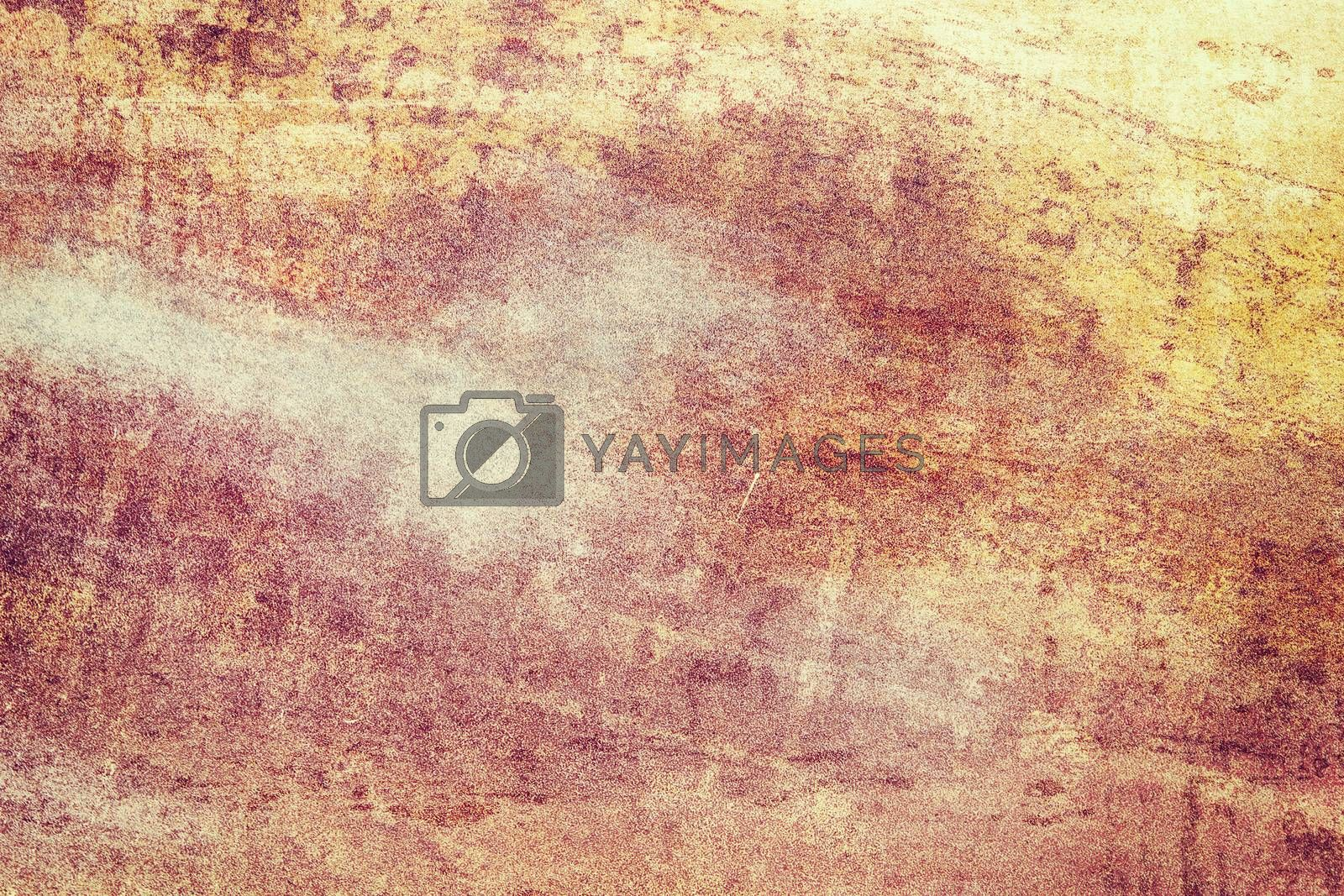 Orange colored grunge texture background
