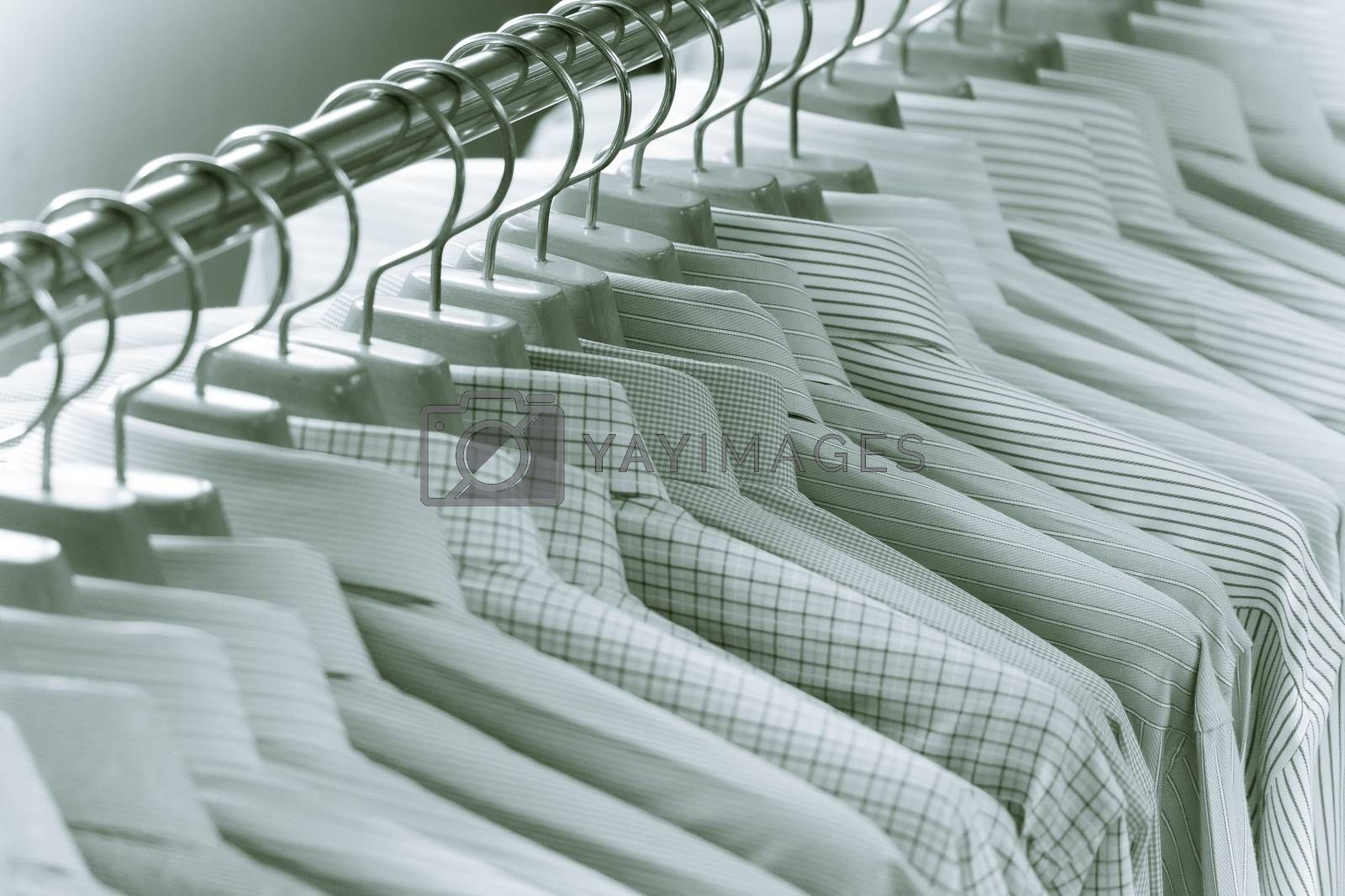 Luxury color tone of Men Shirts On Hanger