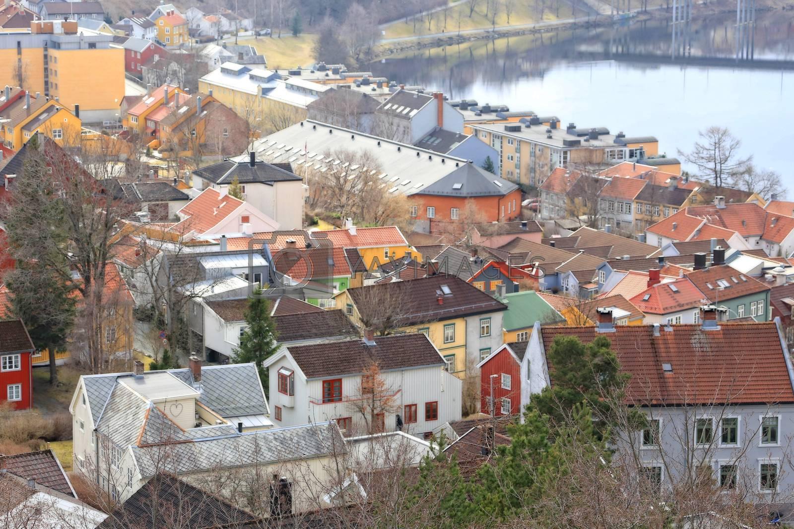 Rundtur i Trondheim en vårdag - Utsikt fraKristiansten fesning