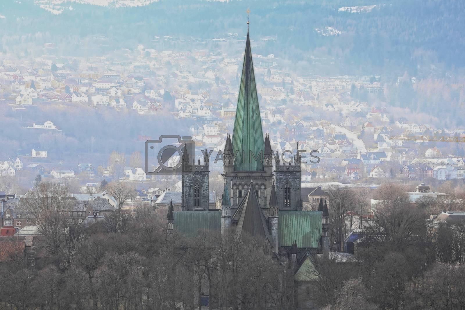 Rundtur i Trondheim en vårdag - Utsikt fra Kristiansten fesning med katedralen
