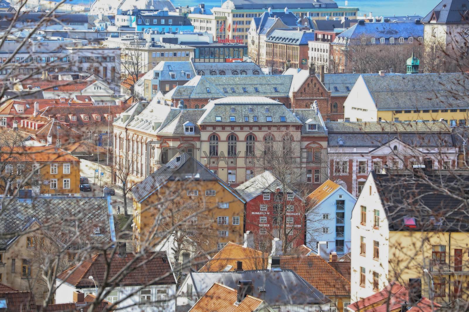 Rundtur i Trondheim en vårdag - Utsikt fra Kristiansten fesning mot sentrum