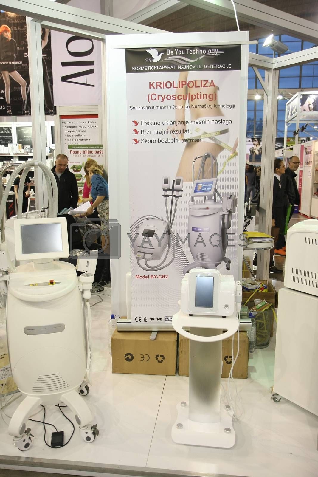 Equipment at 27th international fair and congress of cosmetics,The touch of Paris, 27th and 28th April 2016. Belgrade,Serbia