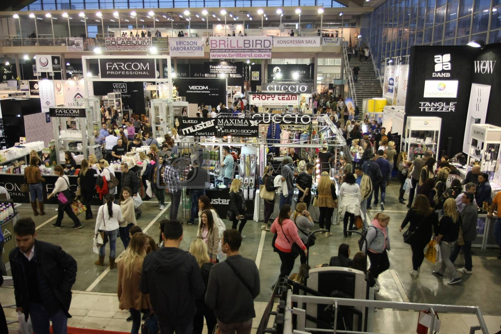 View at 27th international fair and congress of cosmetics,The touch of Paris, 27th and 28th April 2016. Belgrade,Serbia