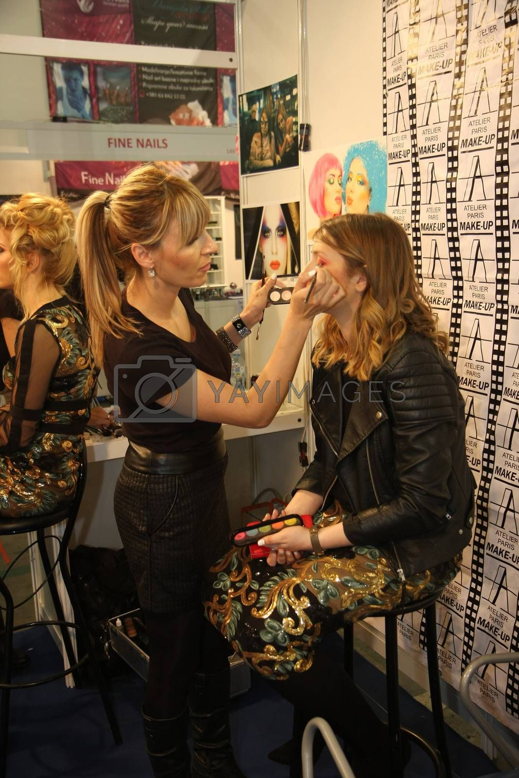 Makeup at 27th international fair and congress of cosmetics,The touch of Paris, 27th and 28th April 2016. Belgrade,Serbia
