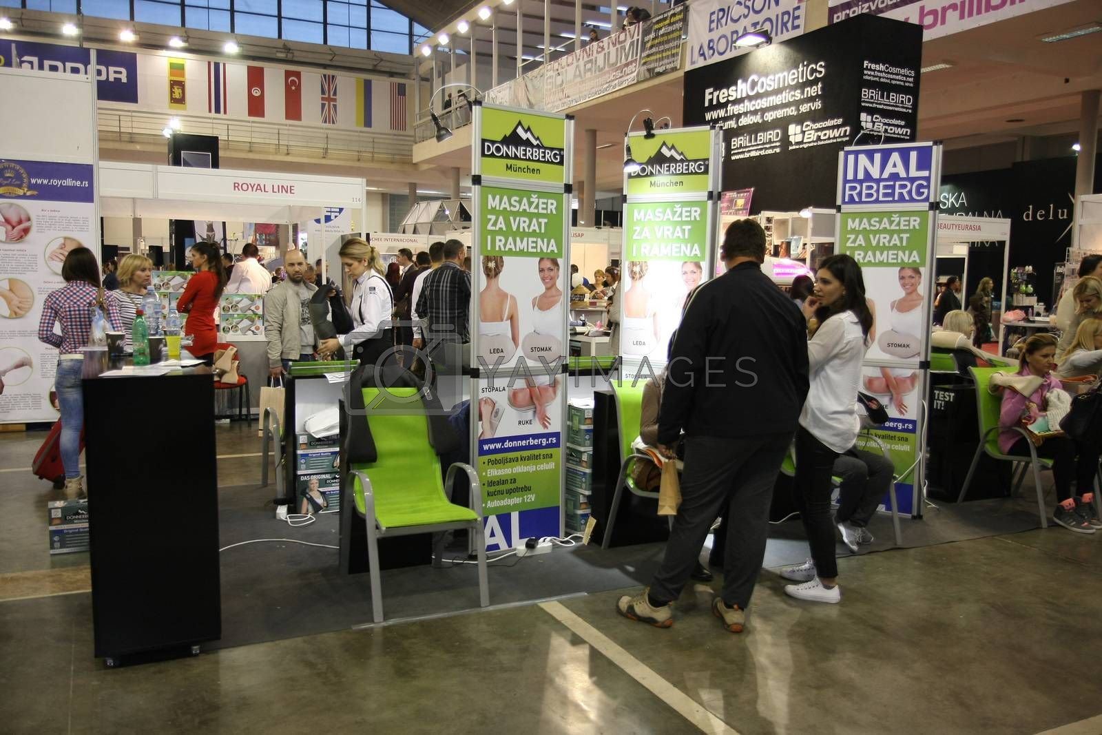 Stands at 27th international fair and congress of cosmetics,The touch of Paris, 27th and 28th April 2016. Belgrade,Serbia