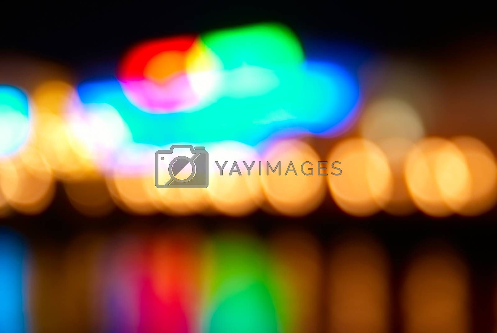 Blur abstract holiday lights can be used for background