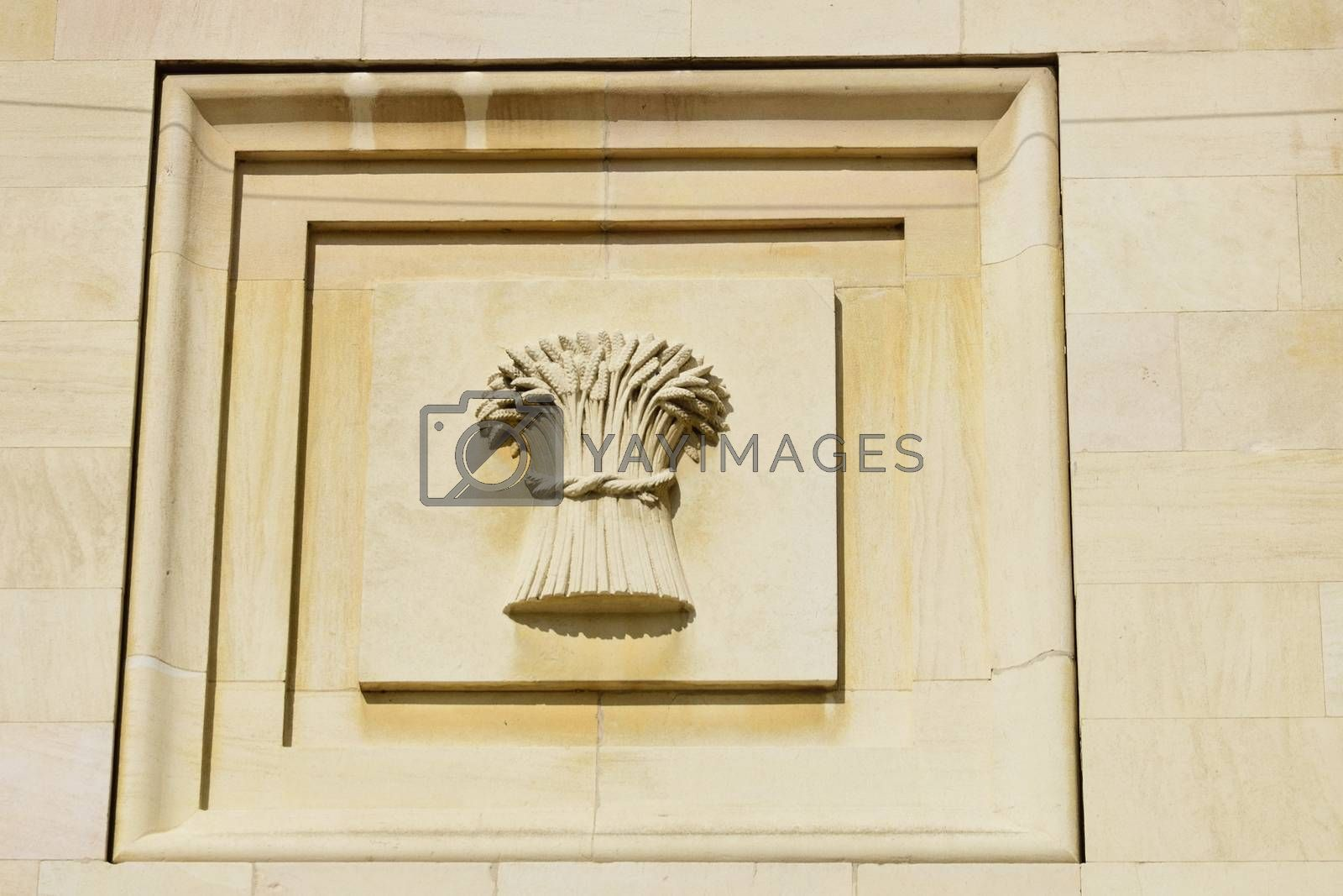Corn Exchange Symbol in stone