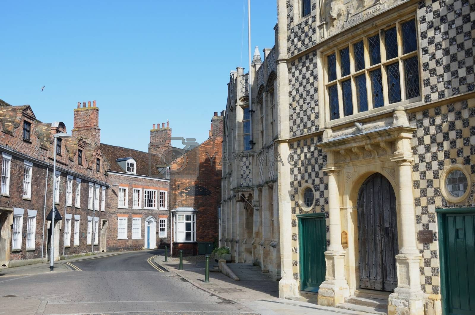 Guildhall Kings Lynn with street view