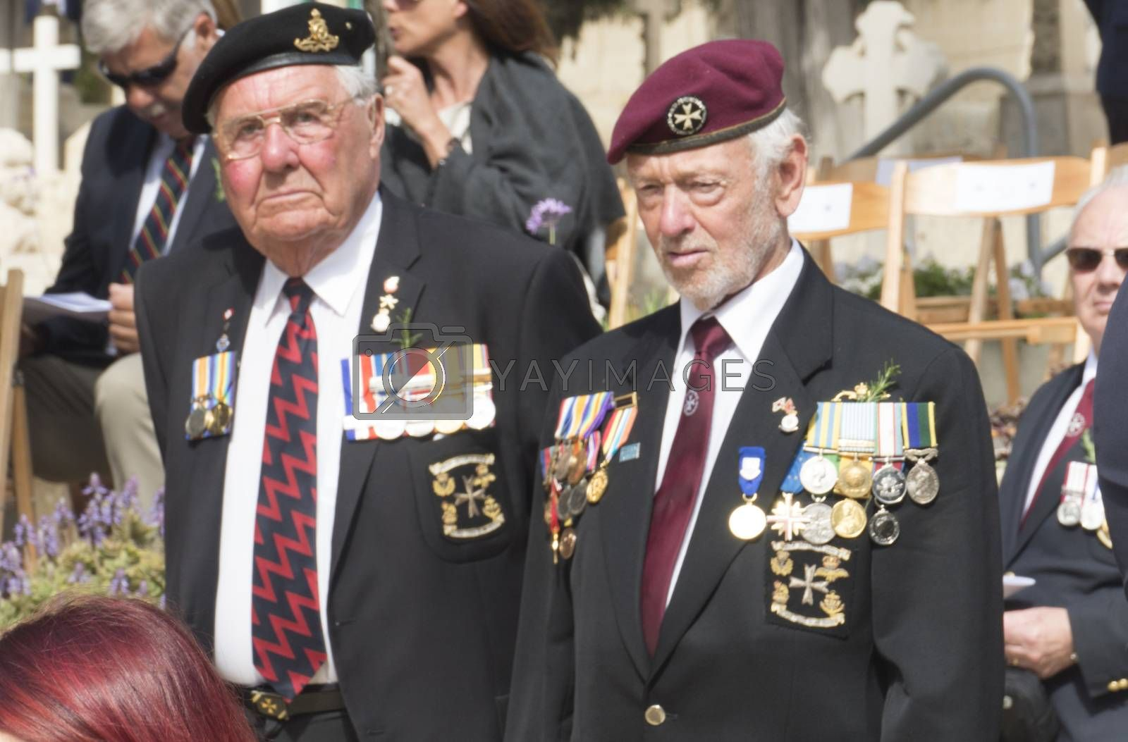 MALTA, Marsa: Veterans attend the ceremony for Anzac Day on April 25, 2016, in Malta.The Wreath laying ceremony takes place on the anniversary of the first major military action fought by Australian and New Zealand forces during World War I. Thousands of woundedAustralians, New Zealanders, Canadians and English were sent to the tiny Mediterranean island for care during theGallipolicampaign. ANZAC stands for Australian and New Zealand Army Corps.