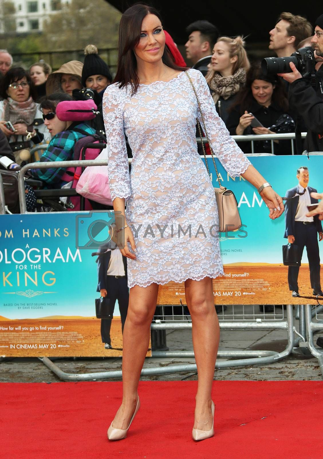 UK, London: Linzi Stoppard attends the UK Film Premiere of 'A Hologram for the King' at the BFI Southbank, in London on April 25, 2016.The film stars Tom Hanks, who plays a businessman on a trip to Saudi Arabia. Also in attendance at the premiere were Christy Meyer, Linzi Stoppard and Megan Maczko.