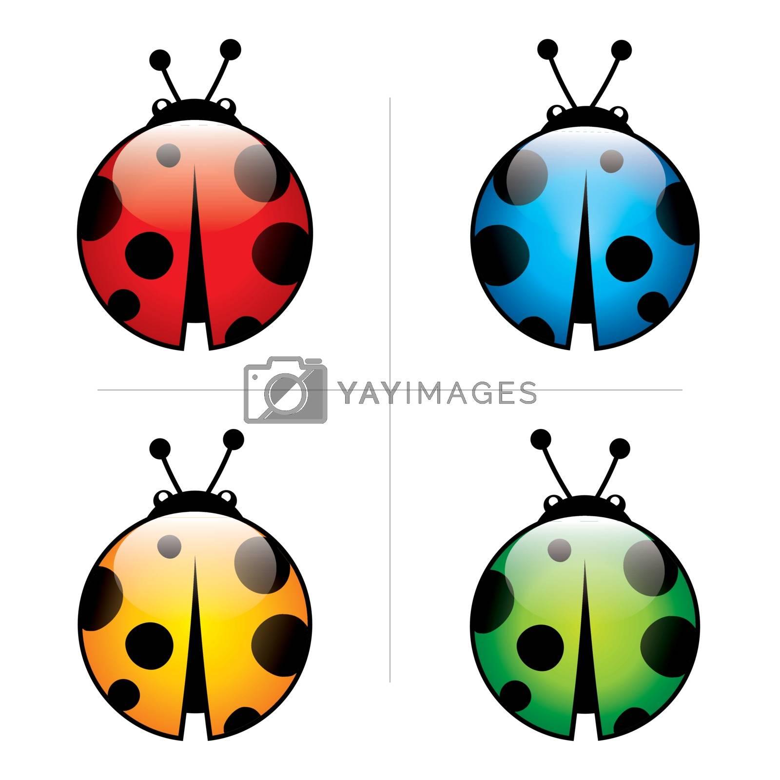 icon, illustration, insect, lady, ladybird, ladybug, leaf, life, logo, animals,