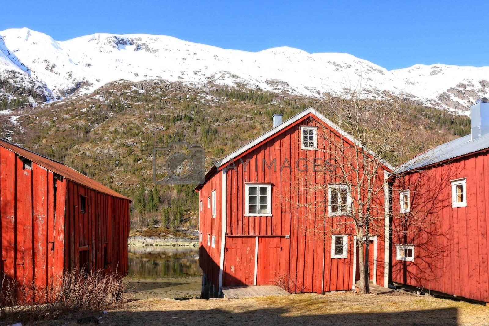 Sjøgata i Mosjøen består av Nord-Norges lengste rekke av trehus og -brygger fra 1800-tallet, og er en av byens mest kjente severdigheter. Mye av bebyggelsen i Sjøgata er fredet, og det er lagt vekt på riktig bruk av gamle byggeteknikker, redskaper, detaljer og farger.