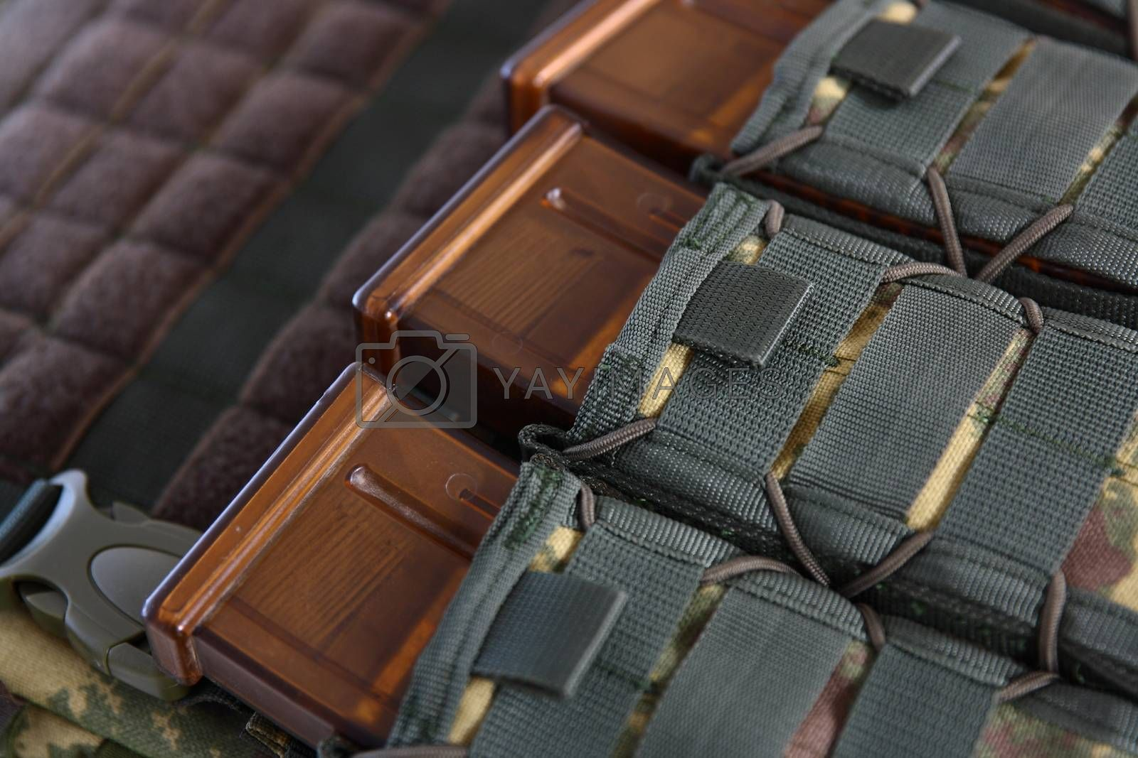 Royalty free image of Tactical Vest for army with bulletproof and ammo by mturhanlar