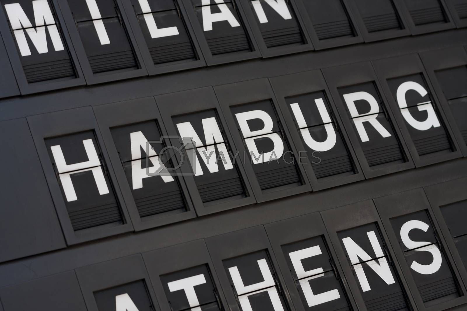 Airport Hamburg Sign by graficallyminded