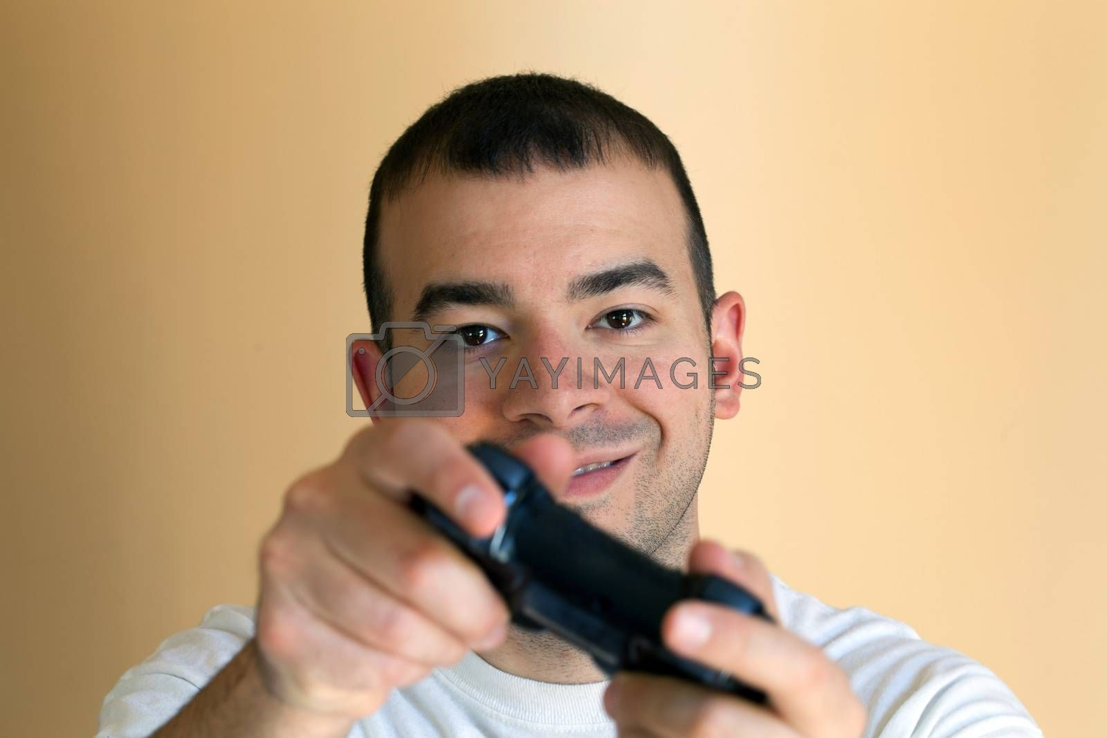 Royalty free image of Man Playing Video Games by graficallyminded