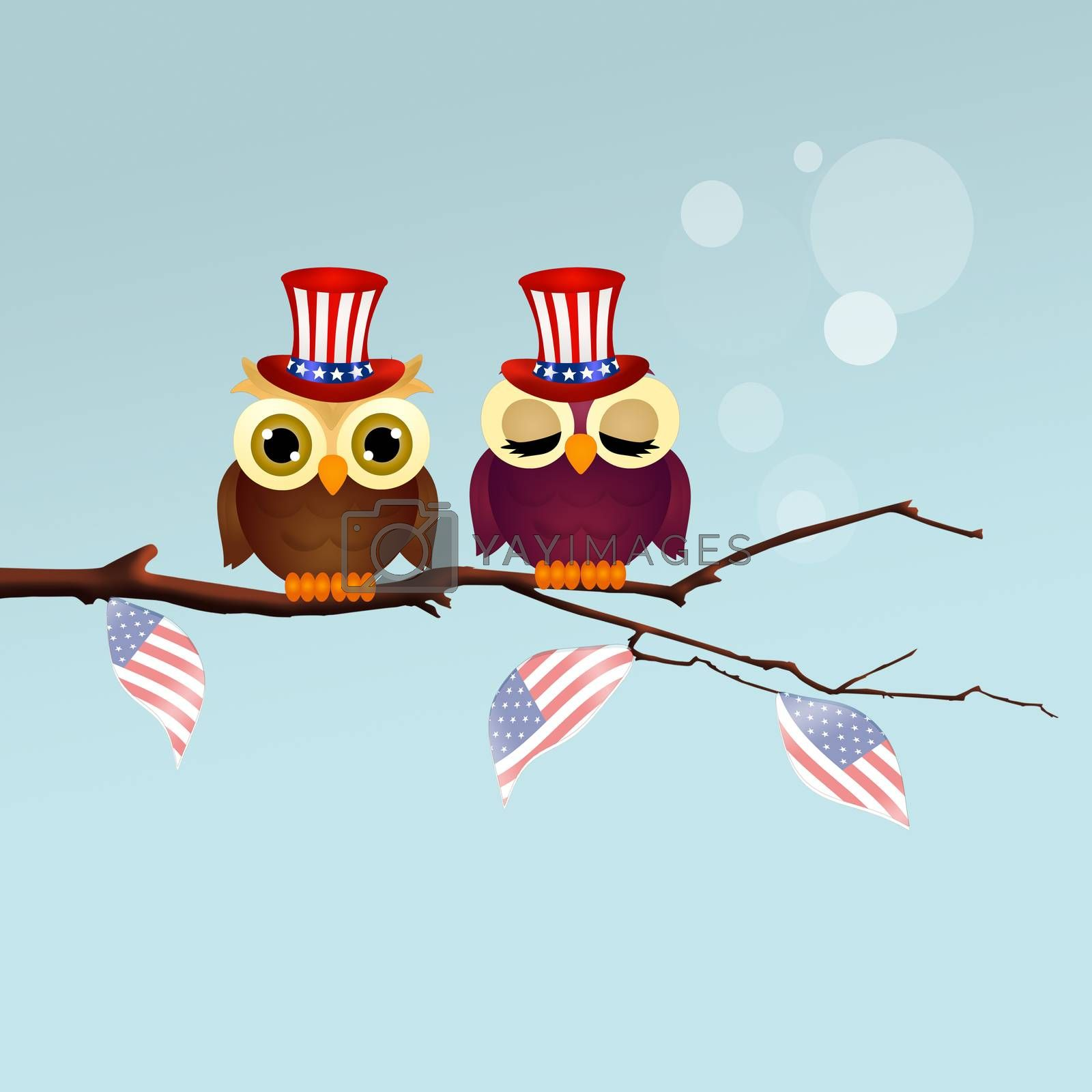 illustration of 4th of July, Independence Day
