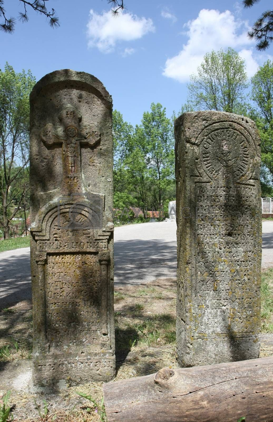 Two tombstones by the road by tdjoric