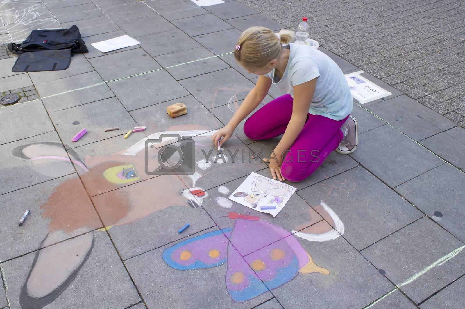 street painting in Geldern, Germany by miradrozdowski