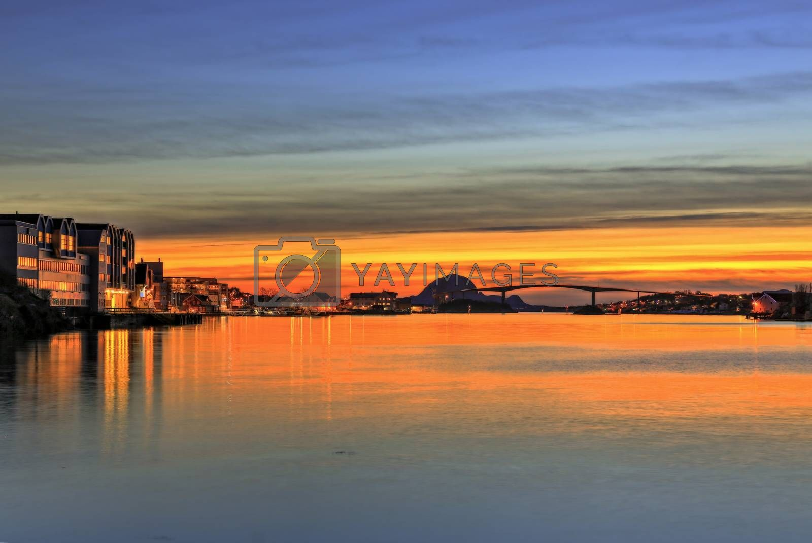 Solnedgang i Brønnøysundet