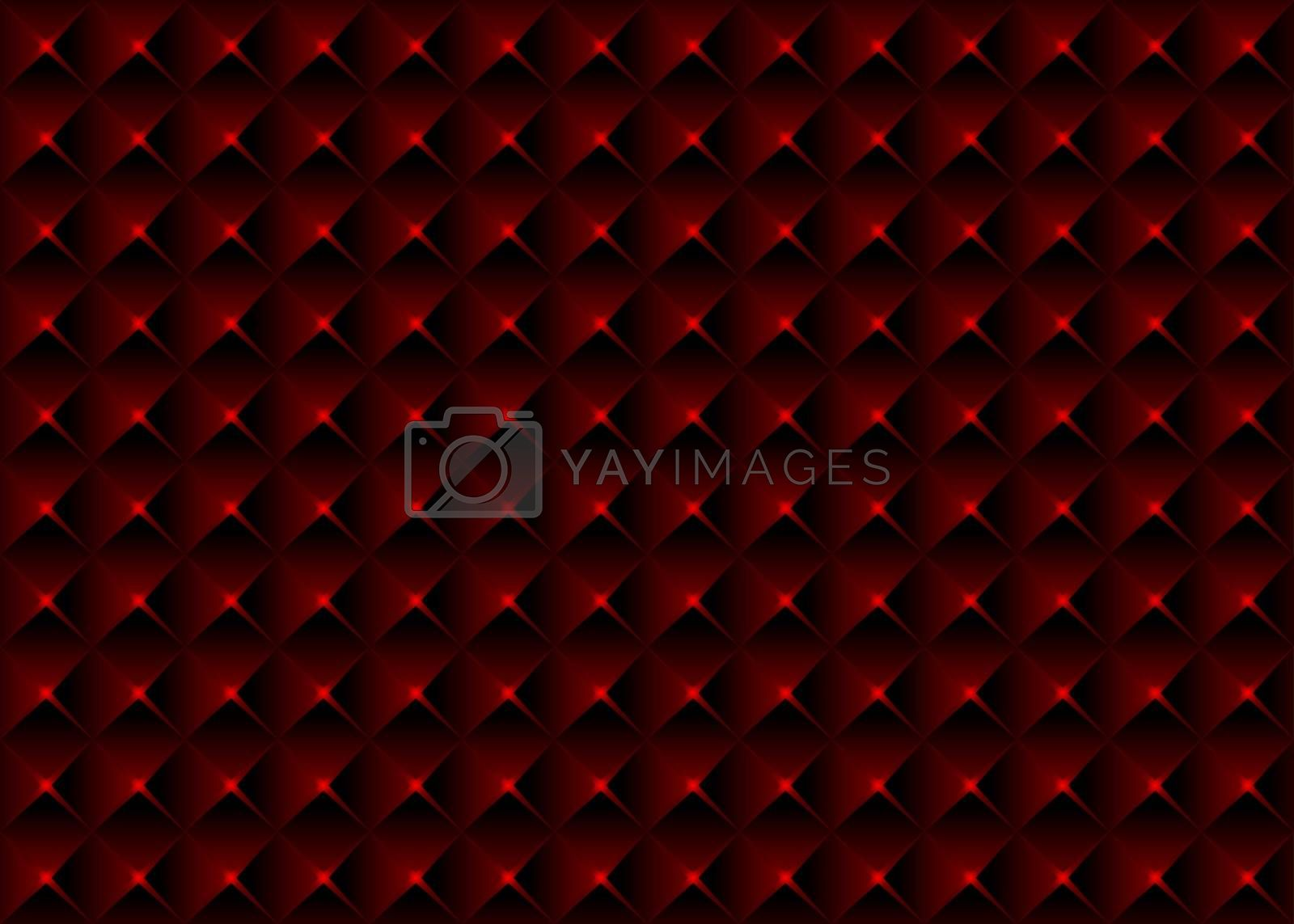 Red Pyramidal Seamless Texture - Geometrical Background Illustration, Vector