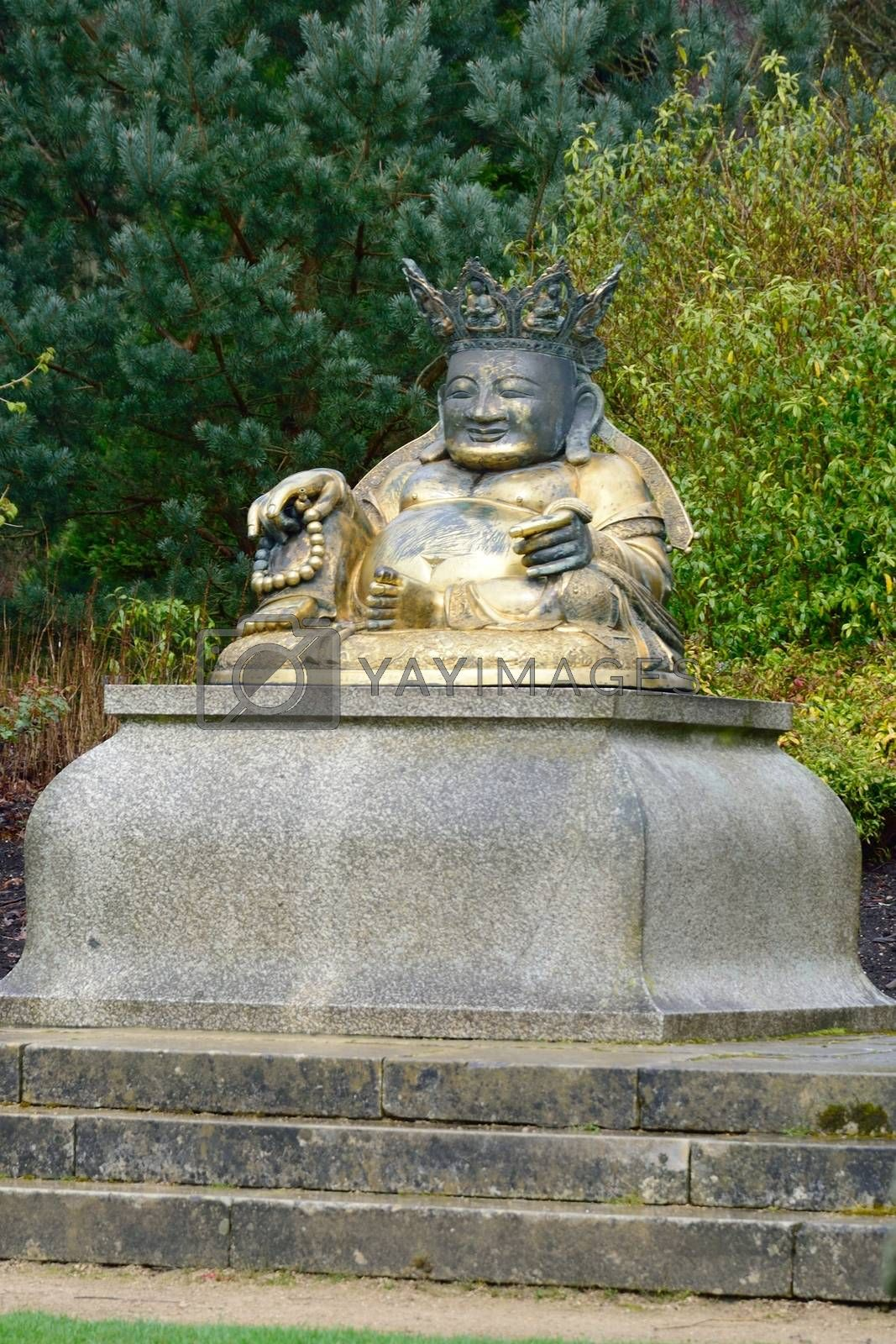 Statue of Buddha in park