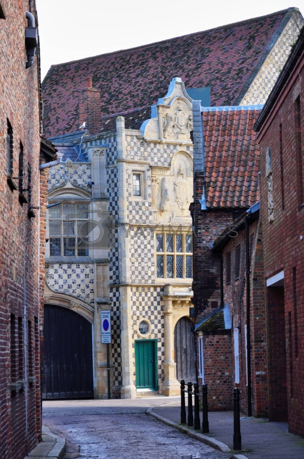 Ancient English Street in Kings Lynn Norfolk