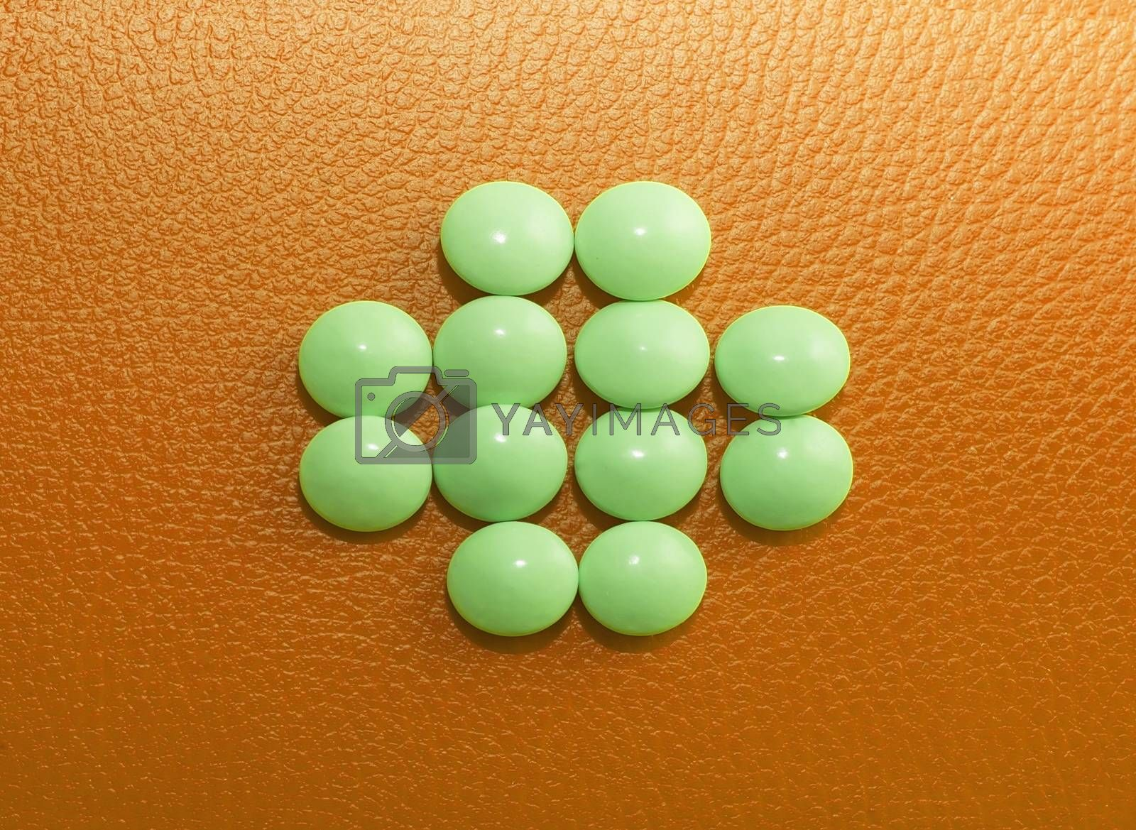 tablets, pills and drugs, medicines, drugs - colorful medications on a colored background, medicine and health