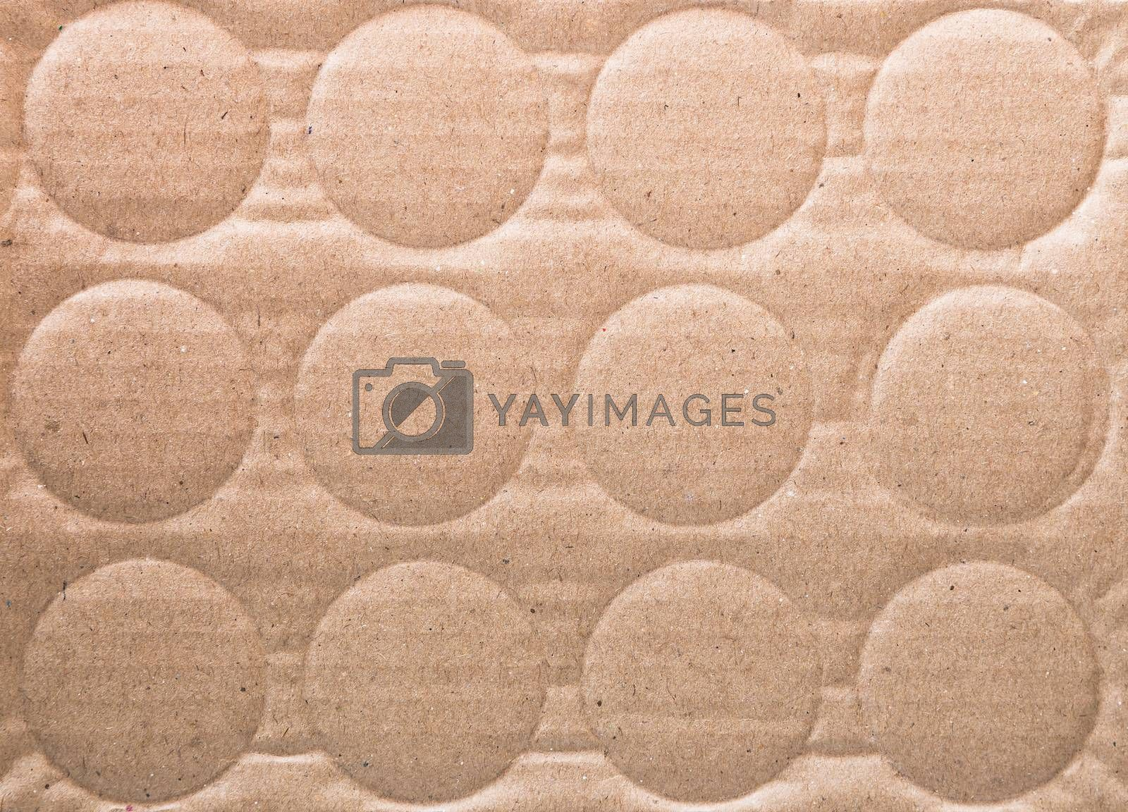 The texture of paper with multiple circular loop.